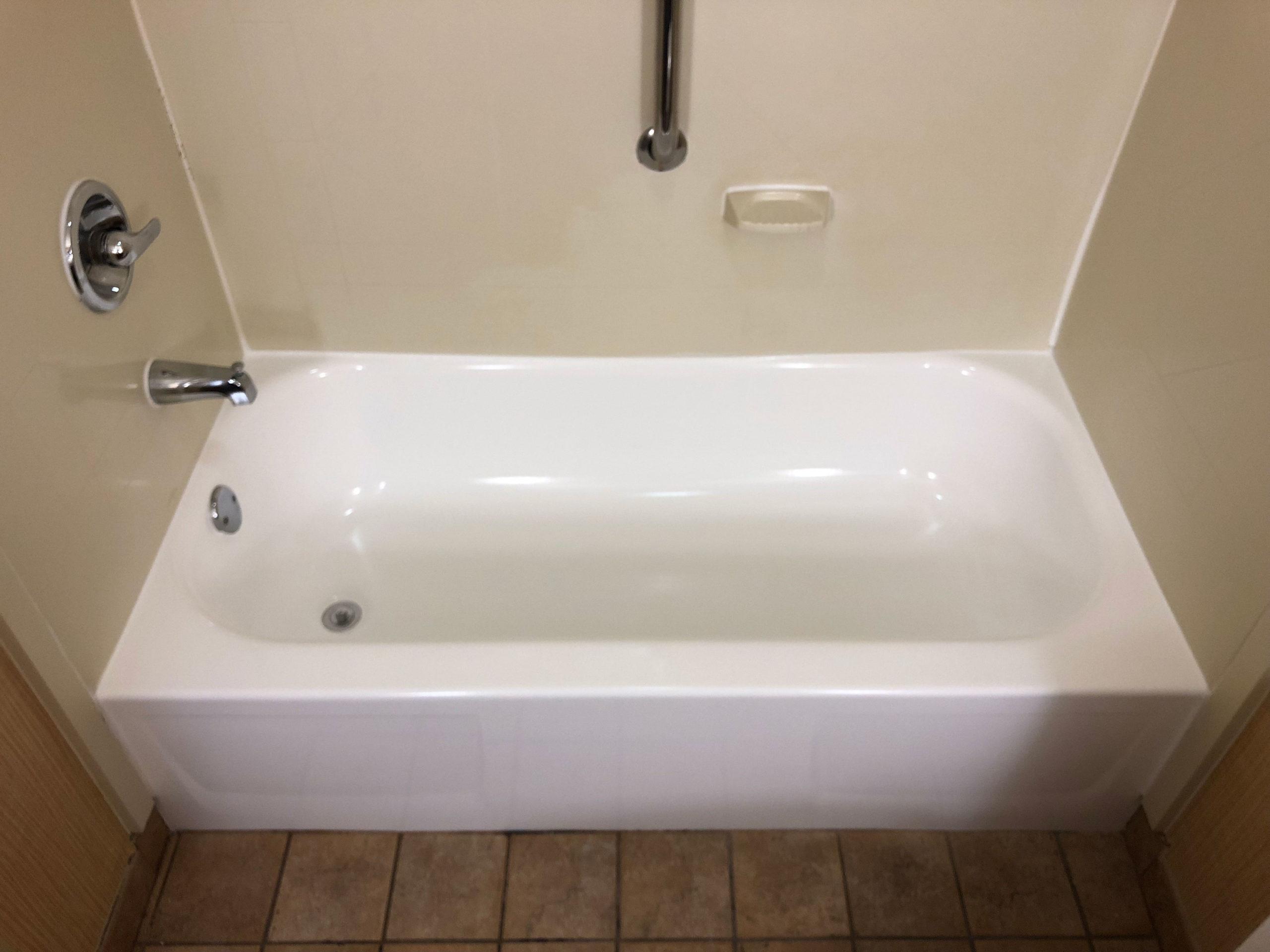 worn bathtub after
