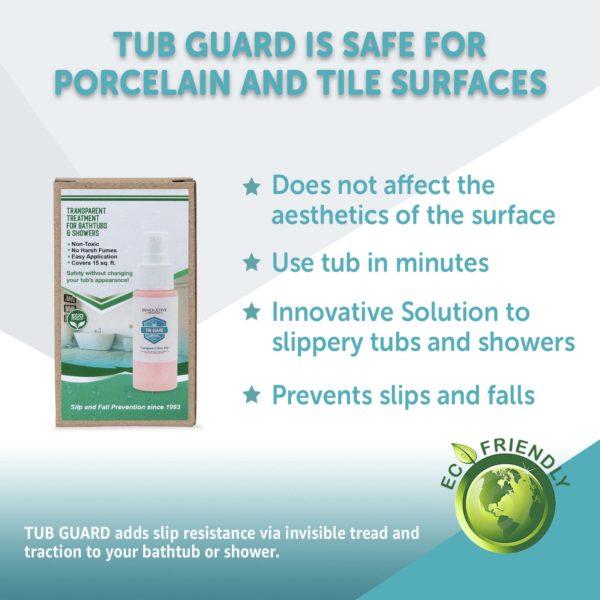 Tub Guard Transparent Safe for Porcelain