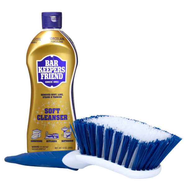 Barkeepers Friend and Cleaning Brush