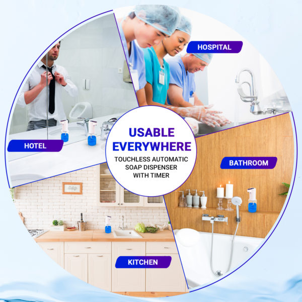 Amura Touchless Infrared Automatic Soap Dispenser Is Usable Everywhere